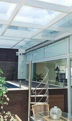 Cobertura de vidro retrátil preço m2