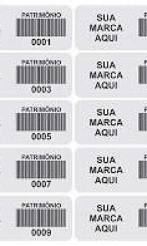Distribuidor de etiquetas de patrimônio
