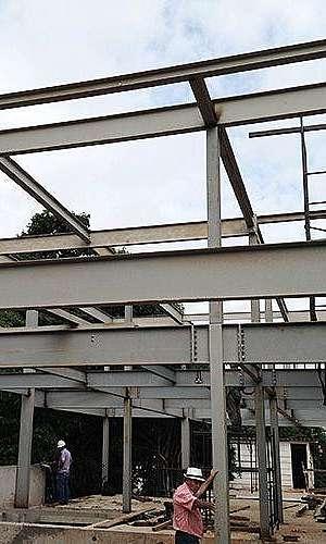 Estrutura metálica para casas