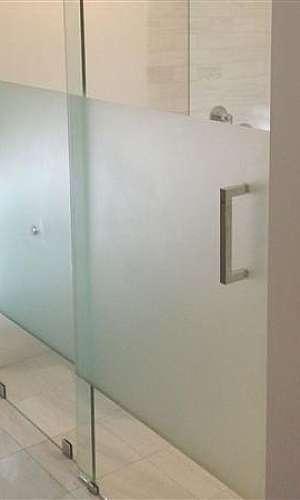 Película jateada para porta de vidro